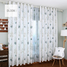 High quality hot sale flower fancy white flocked dubai blackout curtain fabric for window