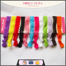 SS-10 wholesale lace headband for baby fancy infant crochet headband