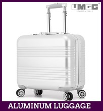 portable and lightweight summer travel luggage, high end aluminum luggage