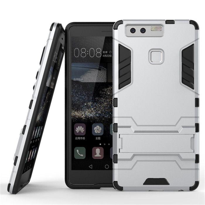 For huawei P9 classic armor protector Case TPU&PC material Dual Armor case with Stand