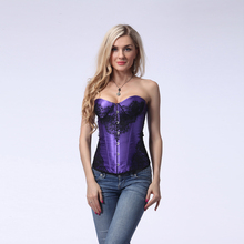 Wholesale Bustier Tops Adult Women Sexy Purple Overbust Corset