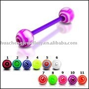 body piercing jewelry tongue barbell