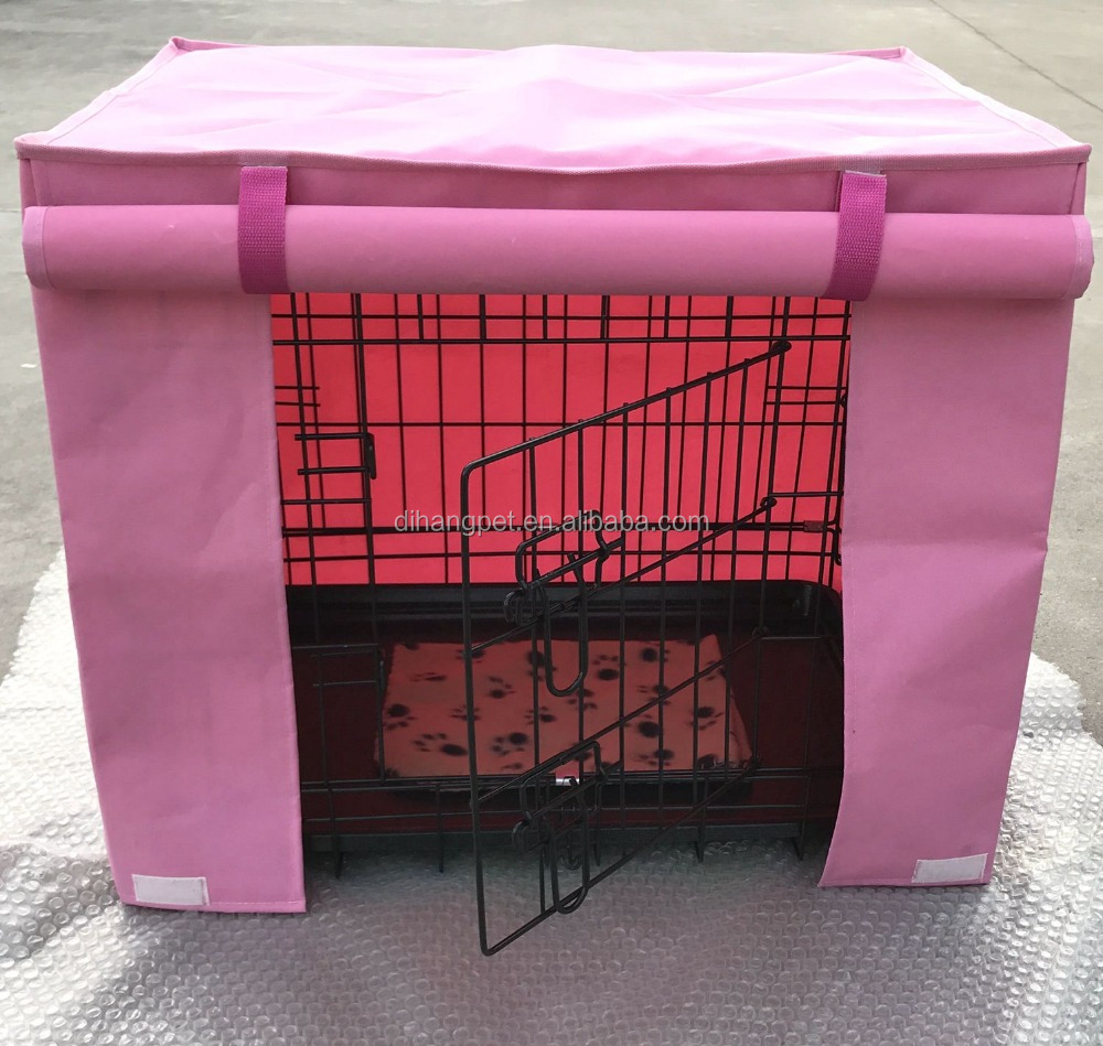 popular metal dog crate with colorful cover