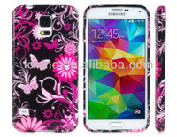 Flower Butterfly TPU Rubber Hard Case Cover For Samsung Galaxy S5 I9600