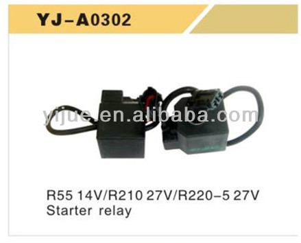 Hyundai R55 14V/R210 27V/R220-5 27V STARTER RELAY Solenoid Value for excavator China wholesaler