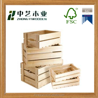 decorative wooden wine crate for sale