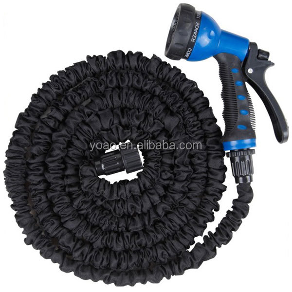 Latex 50 Ft Expandable Flexible Garden Water <strong>Hose</strong> with 8 Functions Spray Nozzle