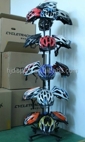 motorcycle helmet stand helmet display stand with casters