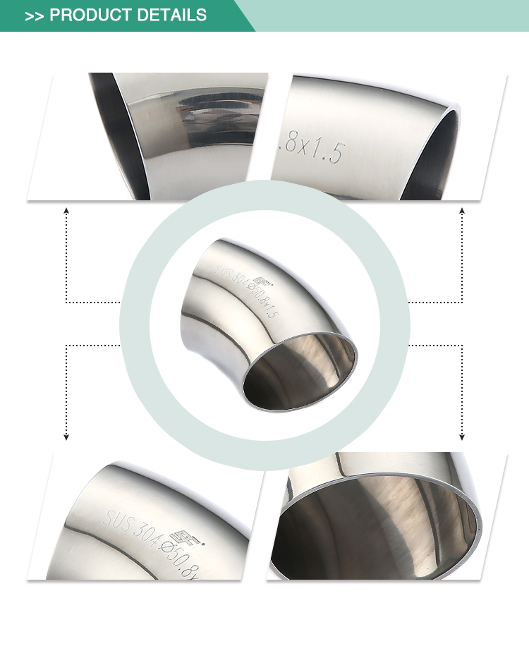 High quality Exquisite workmanship stainless steel sanitary elbow