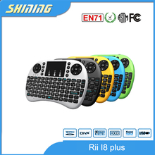 High quality wireless bluetooth mini fly keyboard touch pad led backlight wireless 2.4g air mouse for android tv box