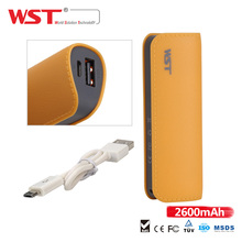 China Factory external micro cable mini power bank with 2000mah 2200mah 2600mah 2800mah