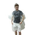Clear transparent child size rain poncho