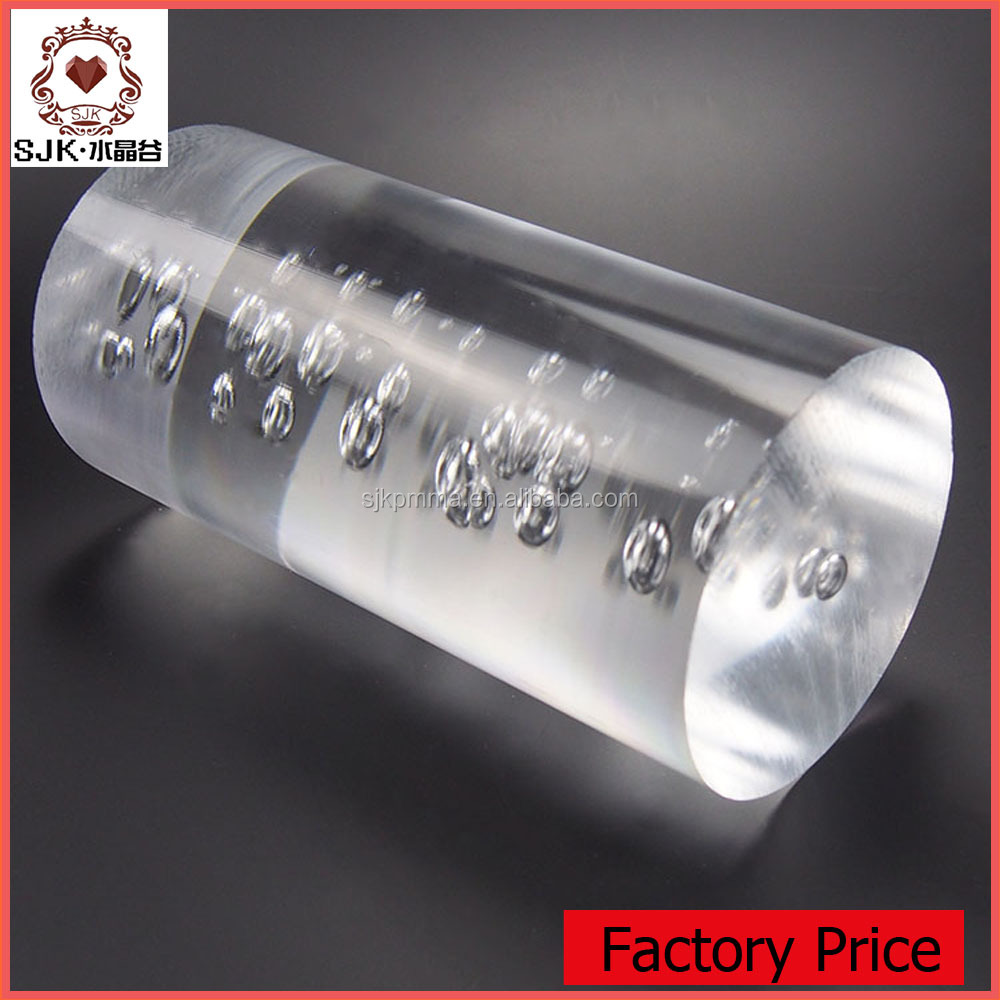 New Design Acrylic Curtain Rods, Crystal Glass Finials for Curtain Rods with bubble