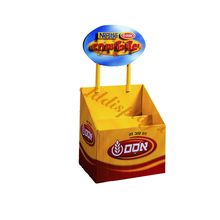 Good price Custom logo printing excellent quality advertising snack cardboard display stand for chocolate