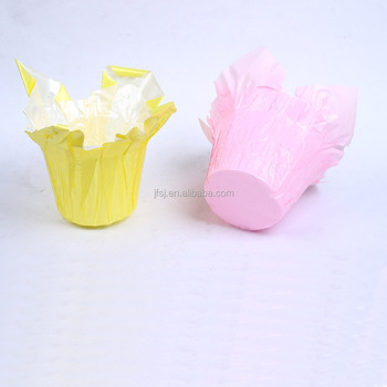 Printing pearlized Bopp plant pot cover