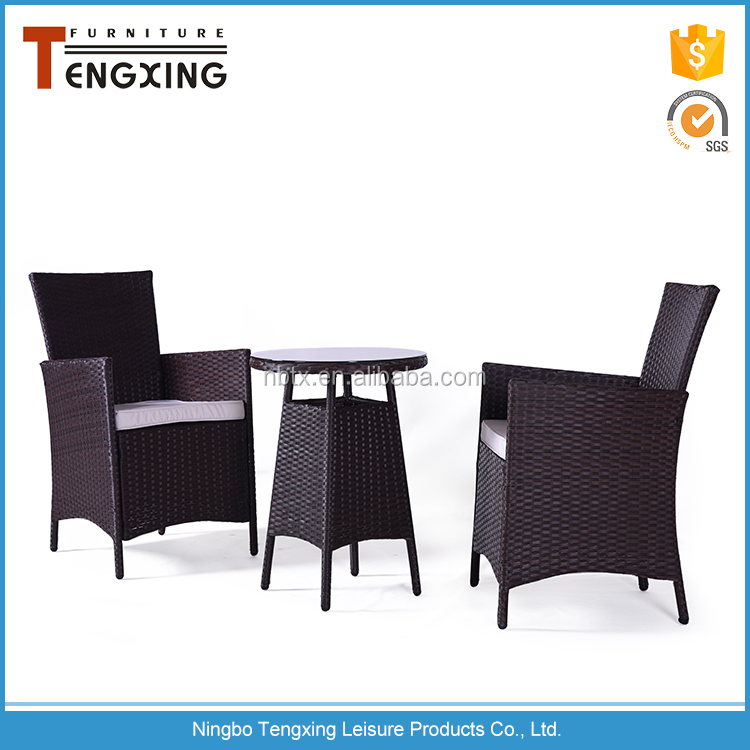 Modern designs most popular rattan wicker restaurant outdoor furniture