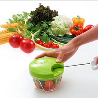 2017 hot selling Creative household manual kitchen hand held food chopper pull string vegetable chopper
