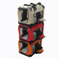 Foldable Dog Carrier with Zipped Bowls
