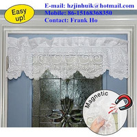 New White Magnets door mesh curtains valance