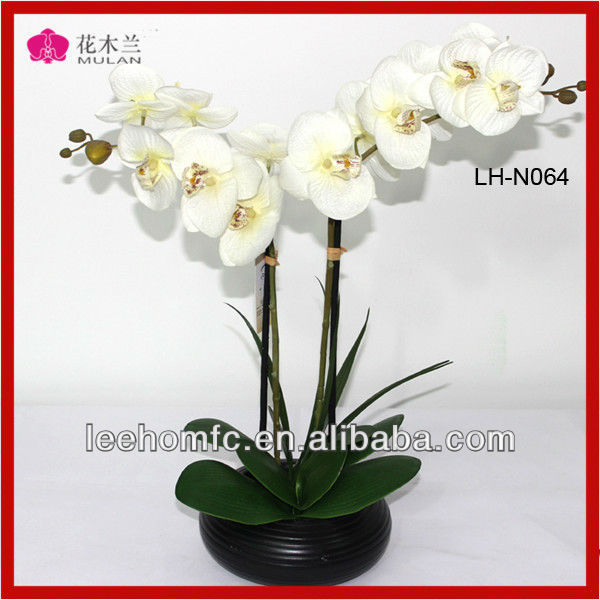 real touch silk orchids flower wholesale resin flower