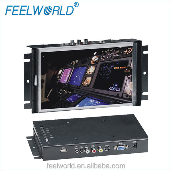 Feelworld 8 inch 4 wire resistive large touch screen tablets with <strong>16</strong>:9 250 brightness HDMI DVI VGA input P839-9AHDT