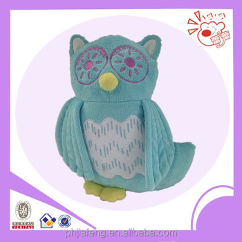 Stuffed plush owl pillow & toys ,soft animal pillow for childs