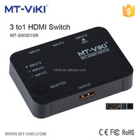 MT-VIKI Factory supply with rf remote 3 port mini hdmi 301 switch