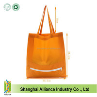 Easy Foldable 190D Polyester Shopping Bag With Zipper,ECO Friendly Reuseable Shopping Tote Bag