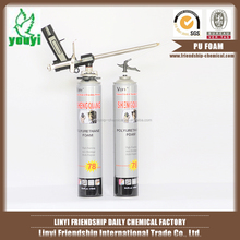 Aerosol canned pu foam expanding sealant filled wheels
