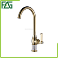 FLG gold plated bathroom washbasin faucet