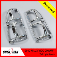 Auto Chromed Tail Light Cover For ToyotaTruck Hilux Vigo Champ 2012 Car Accessories hilux double cabin pick up 4x4 accessories