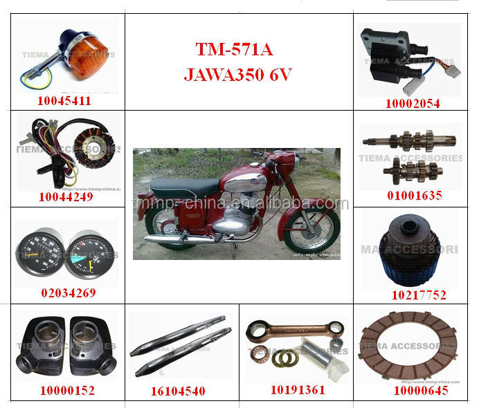 TM-571B JAWA 350 6V motorcycle spare parts