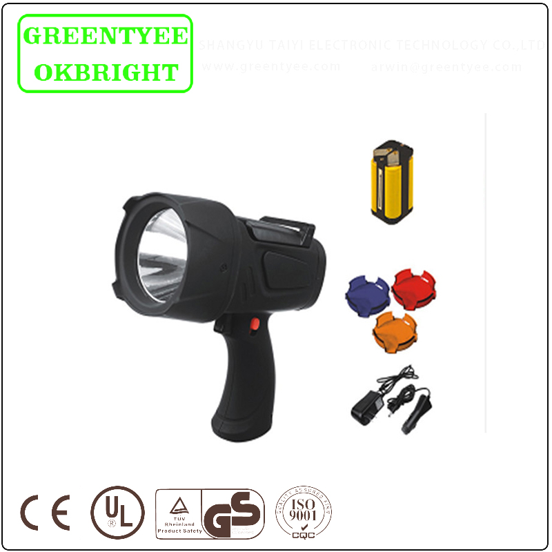 1W rechargeable high power LED spotlight