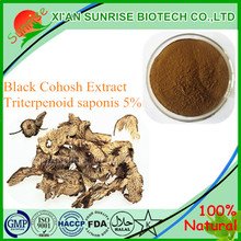 Top Quality Black Cohosh Root Extract Powder for Women's Health Triterpenoid saponis 5%