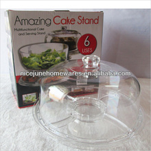 Food Grade Crystal Clear Deluxe Acrylic 4 in 1 Serving Tray