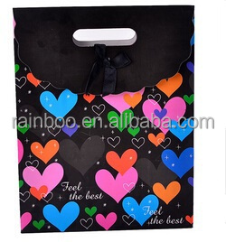 Hot selling OEM customized cheap recycled paper shopping bag for kids