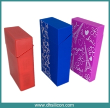 Customed Color and Printing Silicone Cigarette Case box