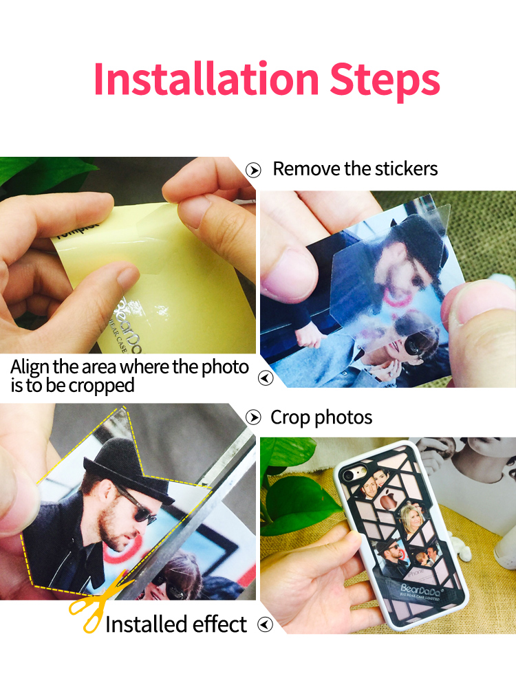 New design DIY Photos tpu pc for iphone 6 6s plus phone case cover