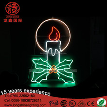 LED Christmas candle motif neon light outdoor decoration waterproof