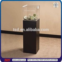 TSD-W716 charity used wood floor stand donation box/wood floor display box for donation/jewelry wood merchandising display box