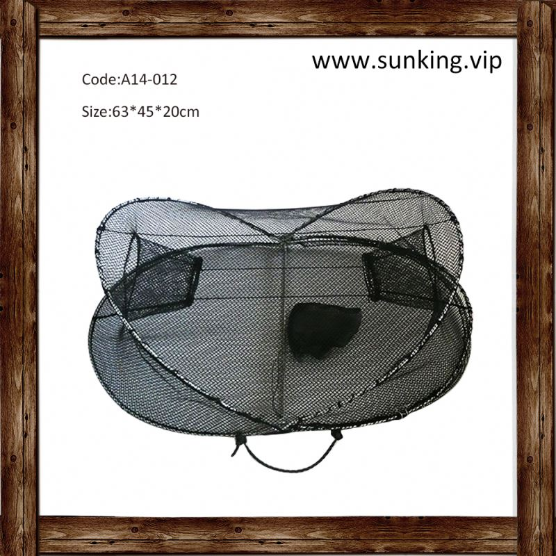round folding stainless steel crab trap fish trap floating cage