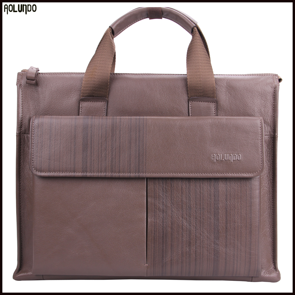 Latest design men custom handmade leather handbags for men laptop bag