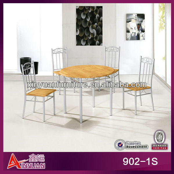 902-1S Traditional iron frame chinese style round dining table