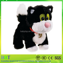 yiwu toy jess the cat soft toy with kniteed pattern