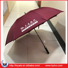 62 Inches Arc Windproof Logo Print Golf Umbrella with Air-Vent Design
