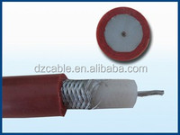 high frequency signal transmission teflon rg178 cabo coaxial