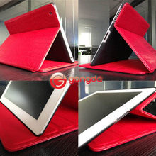 Red Leather Case smart cover For ipad4