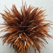 6-8inch cheap natural color rooster saddle feathers chicken feathers for sale
