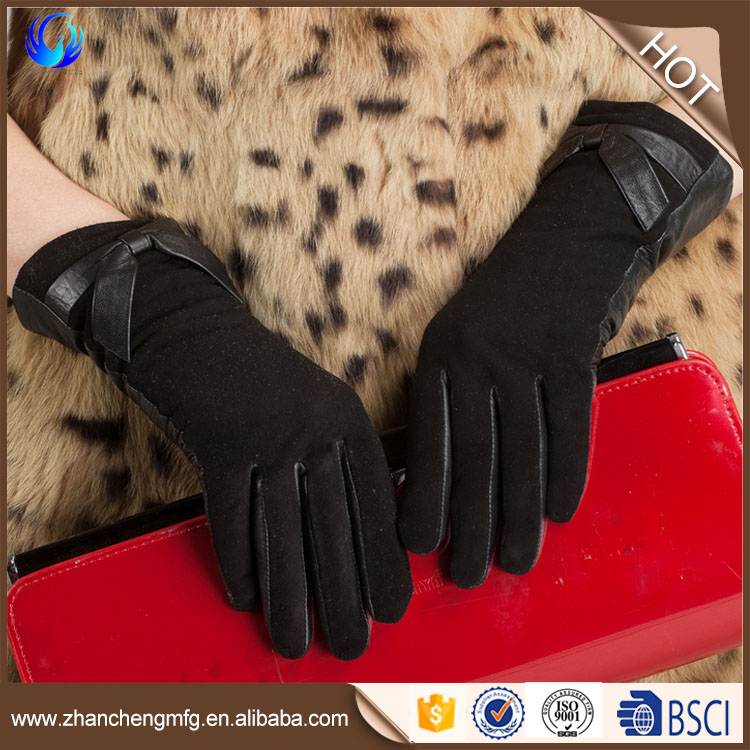 Hot selling suede gloves winter for women