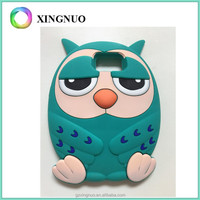 Cute cartoon 3 D Owls deisgn silicone cell phone case for Samsung S6/S7